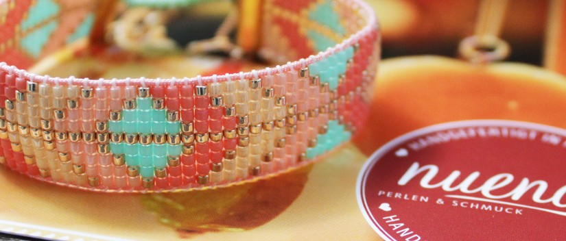 DIY · Beading Loom Armband mit Delica Perlen #bynuena